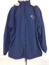 Mens Ralph Lauren Polo Sports Winter Coat Fleece Lined Blue Chest Size 50