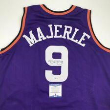 Autographed/Signed DAN MAJERLE Phoenix Purple Basketball Jersey Beckett BAS COA