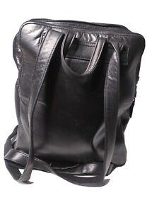 Perlina Leather Backpack Daypack Black