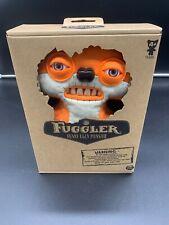 "RARE Fuggler Suspicious Fox Orange and White 9"" Stuffed Animal Plush with Teeth"