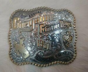 Gist 1997 Cheyenne Frontier Days Rodeo Buckle