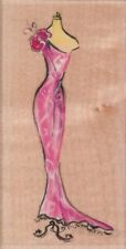 DRESSED IN PINK - Wood Mounted Rubber Stamp - Hampton Art