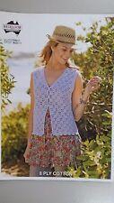 Heirloom Crochet Pattern #347 to Crochet Ladies Vest in 8 Ply Cotton