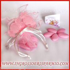 Sacchetti Portaconfetti FaidaTe Caramella Rosa Bimba COMPLETI Nascita Battesimo