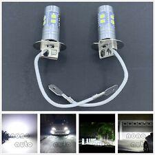 H3 Cree Led Fog Light Bulbs Conversion Kit Super Bright Canbus 6000k White 55w