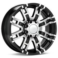 4 17 inch HE835 17x8 Chevy Silverado 2500HD Truck BLACK Rims 8 LUG 2000-2010