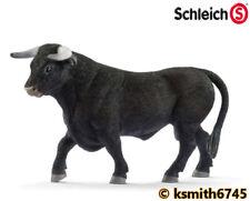 Schleich BLACK BULL solid plastic toy farm pet Spanish animal figure * NEW *💥