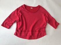 Aerie Pink Short Dolman Sleeve Hi-Lo Sweatshirt Size XL