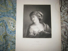 ANTIQUE 1850 A SIBYL ITALIAN OLD MASTER GUIDO VICTORIAN ART ENGRAVED PRINT FINE