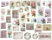 Dollhouse Miniature Shabby Chic Decals 1:12 Scale Pictures Signs