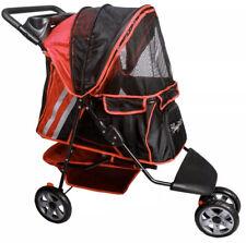 Classy Tails Pet stroller 3 wheeler cruiser Black / Red
