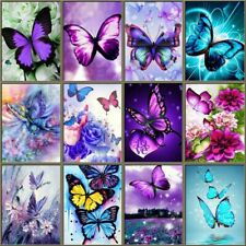 Diamond Painting Butterfly Embroidery Cross Stitch Mosaic Full Round Decorations