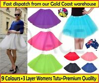 Womens Adults Ladies Ballet Costume Party Hens Night 80s Dance Tutu Skirt