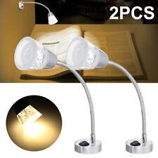 2x LED Interior Mini Spot Light Reading Lamp Frosted Glass For Caravan RV 12V