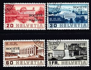 Switzerland 1938 Cancelled Society of Nations Set with Full Gum...