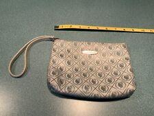 "Caesars Grey & Silver Zippered Cosmetic Travel Bag Tote Case 7.5"" x 6"" - Casino"