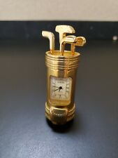 Golf Clubs and Bag * Rumours Quartz Clock * Heavy Metal Die Cast Polished Brass