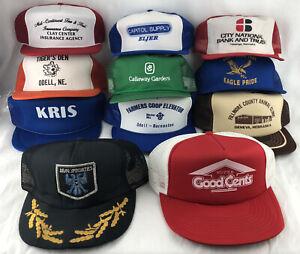 Mixed Lot of 11 Hats Cap Snapback Mesh Trucker Mesh Drag Specialties Coop