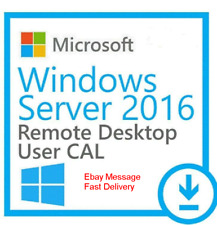 Windows Server 2016 Option 50 USER Remote Desktop Service RDS user Cals