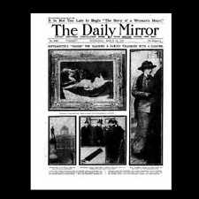 Dollshouse Miniature Newspaper - Daily Mirror 1914 Suffragettes
