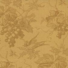 Vin Du Jour 44021 13 Mustard Grape vines birds by 3 Sisters MODA 1/2 YARD
