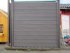4x WPC Sichtschutzzaun Terrassenzaun Gartenzaun Dichtzaun Sichtschutz Holz Zaun