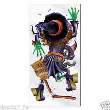 1 HALLOWEEN Party Decoration Prop CRASHING WITCH Wall DOOR COVER