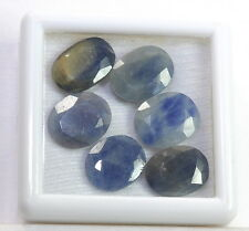 26.80 Ct Natural Blue Sapphire 6 Pieces Astrological Wholesale Gemstone Lot