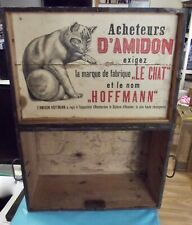 Old Chest Trunk Wood Deco Voyage le Chat HOFFMANN cat Star Nineteenth century