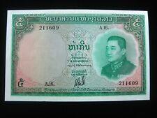 Laos 5 Kip 1962 Lao Kingdom Elephant Unc  1609# Currency Money Banknote