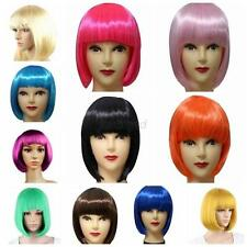 Bob Womens Natural Short Hair New 13 Colors Straight Bangs Women's Wigs Perruque