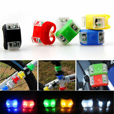 1x Silicone Safety Bike Bicycle Head Front Rear Wheel LED Flash Frog Light Lamp