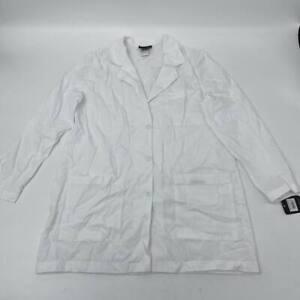 New Cherokee white Lab Uniform womens coat medical Sz 12 button long sleeve W503