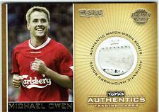Topps Authentics Liverpool Michael Owen Premier Gold Match Worn Boots #31/50