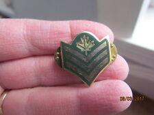 Canadian Military Sergeant Goldtone & Enamel Collar Pin Badge