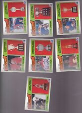 1983 - 84 OPC LOT of 7 NHL TROPHY Cards NM+ o-pee-chee GRETZKY BOSSY PEETERS
