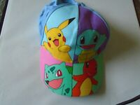 Pokemon Character Flat Bill Ball Cap for Youth Girls Size 15/17
