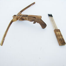WOODEN CROSSBOW QUIVER w ARROWS wood youth archery hunting cross bow toy gun set