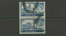 Kuwait 1958 10 Rupees on 10 Shillings Used Pair