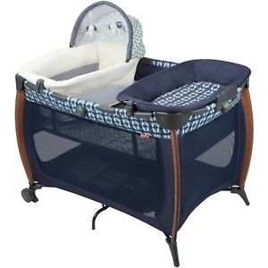 """Monbebe """"Flex Playard"""" with Infant Bassinet and Changer with Side Pockets - NIB!"""