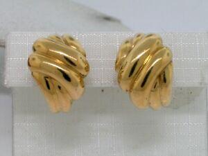 Ros/égold-Liebesknoten-Ohrringe