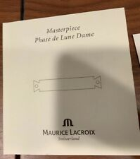 Maurice Lacroix Materpiece Phase De Lune Dame Certificate Booklet