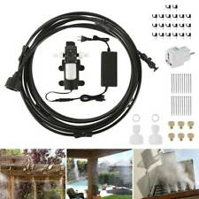 Patio Misting Cool System High Pressure Nozzles Set Booster Pump&Power Supply