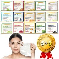 [5+5] Total 10pcs Korean Facial Skin Care Mask Sheet Moisture Essence Face Pack