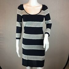 67462a05000 Gianni Bini Sheath Dress Size Small Striped Long Sleeve Round Neck Pullover