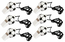 12 Black & White Football Whistles - Pinata Toy Loot/Party Bag Fillers Childrens