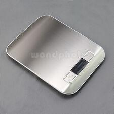 Digital Balanza Electrónica Báscula de Cocina Peso 1g-5kg para Frutas Alimentos