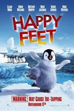 HAPPY FEET ~ TAPPING ADVANCE ORIGINAL 27x40 MOVIE POSTER Teaser Cartoon Penguin