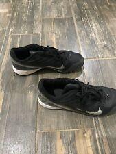 New listing Nike LandShark II Mid Black & Gray Football Cleats Mens Size 9 Used Shoes