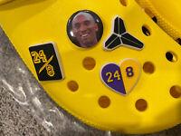 4 Kobe Bryant Shoe Charms For Crocs!